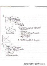 Equilibrium and Curve Shift Notes