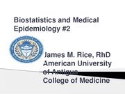 Biostats and Medical Epidemiology #2-revised