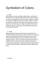 Symbolism of colors examples