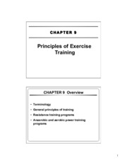 11 - CH 9 - Principles of Exercise Training