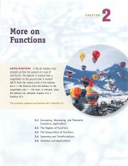 Chapter 2 - More on Functions