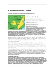 Chapter 1 - Reading Mandarin Profile