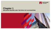 week 1 lecture DECISION MAKING AND THE ROLE OF ACCOUNTING1