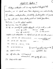 Primes and divisibility in the integers Lecture