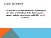 Lecture 32SV- Social Psych
