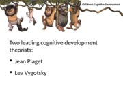 Children's Cognitive Development PPT with notes