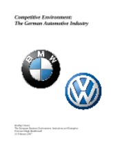 Germany Auto Competive Environment