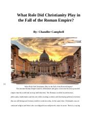 Christianity and the Fall of the Roman Empire.docx