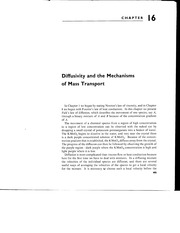 ECH143-Reading Assign 1-Mechanisms of Mass Transfer-Bird, Steward and Lightfoot