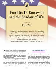 chapter 35 franklin d. roosevelt and the shadow of war