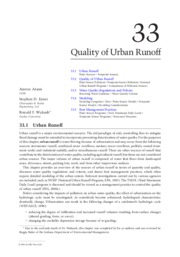 Quality of Urban Runoff