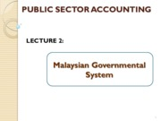 CAEA 3229_Lecture 2_ Malaysian Government Structure