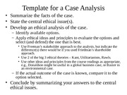Case Analysis Template