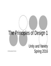 2016 Fall  Principles 1 Unity & Variety,-2.ppt