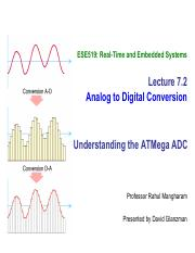 L7 2 - ADC ATMEGA 328 - ESE519 Real-Time and Embedded Systems