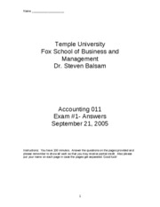 2005 Fall Accounting_011_exam_1___Fall_2005___answers