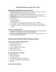 NURS 2000 Final Exam Study Notes