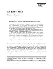 Audit quality in ASEAN