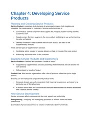 Chapter 4 Creating Service Products (Student Created)
