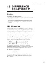 Difference Equations II