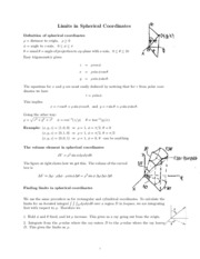 Limits in spherical coordinates review