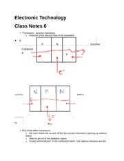 Electronic Technology notes 6