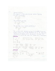 Eng Sci Statics - Extra Review Notes