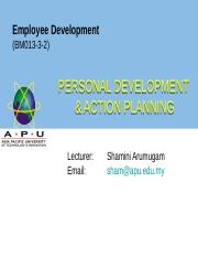 WEEK 10 Personal Development  Action Planning