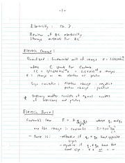 ELEC 483 Electric Charge Notes