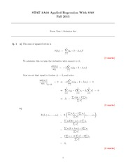 STATS 3A03 Fall 2013 Test 1 Solutions