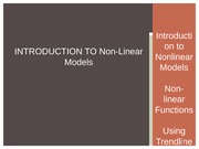 Intro to Nonlinear Models