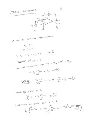 EE 3N03 Ideal Integrator Notes