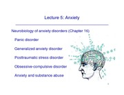 P634-5 Anxiety Disorders and OCD