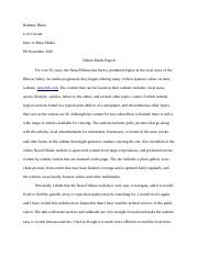 life out mass media essay looking around society in it  2 pages online media report