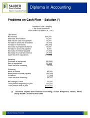 Practice Problem Cash Flow Solution- Standard Card