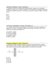 Selected Problems II
