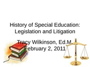 History of Special Education Legislation and Litigation