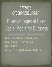Disadvantages of Using Social Media for Business.pptx