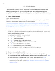 Week 1 Assignment