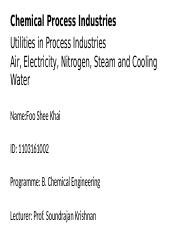Utilities in Chemical Process Industries Alvin.pptx