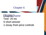 Midterm 1 Chapter 6 - Price Controls