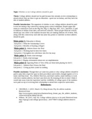 Position Paper - Outline