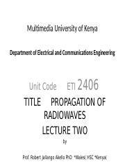 Lecture 2 Radiowave  Propagation.ppt