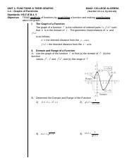 MA42 - Unit 1.4 LN Graphs of Functions (2).doc