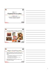 Chemical Preservation Slides Handout