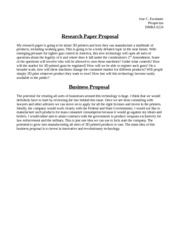 Business and Research Paper Proposal