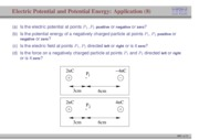 83-84;90. Electric Potential and Potential energy (Application 8)