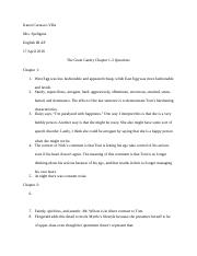 The GReat GAtsby Chapter 1-3 Questions.docx