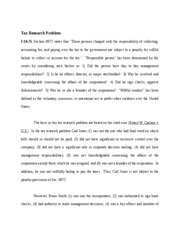 Tax Research Problem-Chapter 14