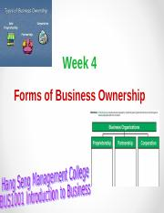 Week 4_Forms of Business Ownership_1617